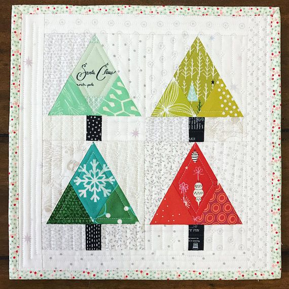 Christmas Tree Paper Piecing Patterns: Christmas Tree Paper Pieced