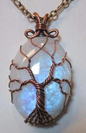 Rainbow Moonstone Tree Of Life Wire Wrapped By