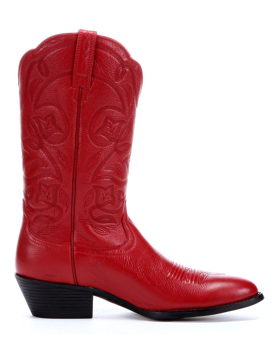 western boots for women | Ariat Women's Heritage Western R Toe Boot - Red Deertan