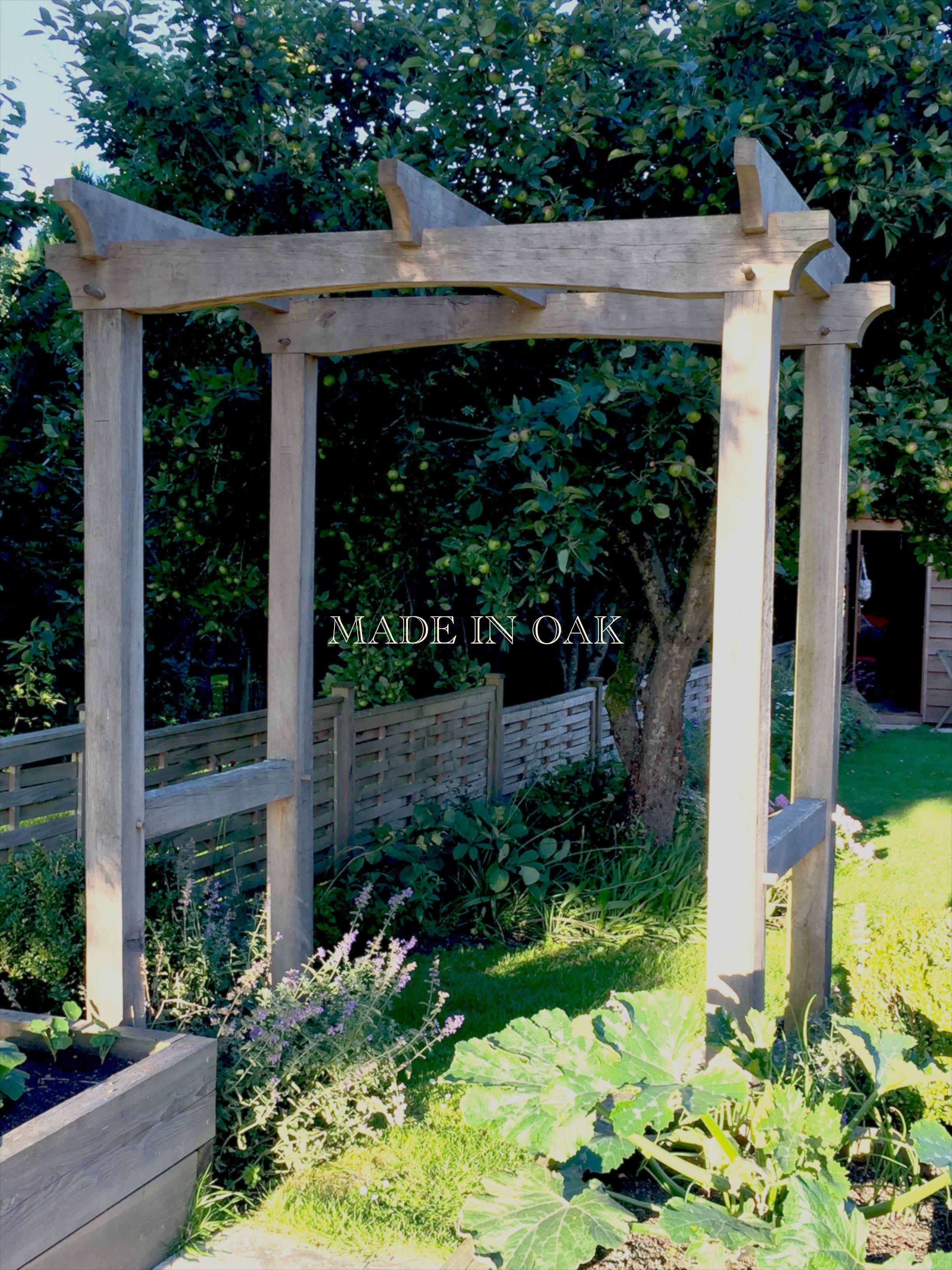 oak garden arch by madeinoak com garden buildings and structures