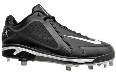 Nike Air Swingman MVP Metal Mens Baseball Cleats Black / White http://www