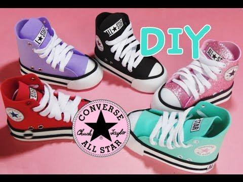 cb570049f442 zapato converse mini en foami para decoracion (porta lapices