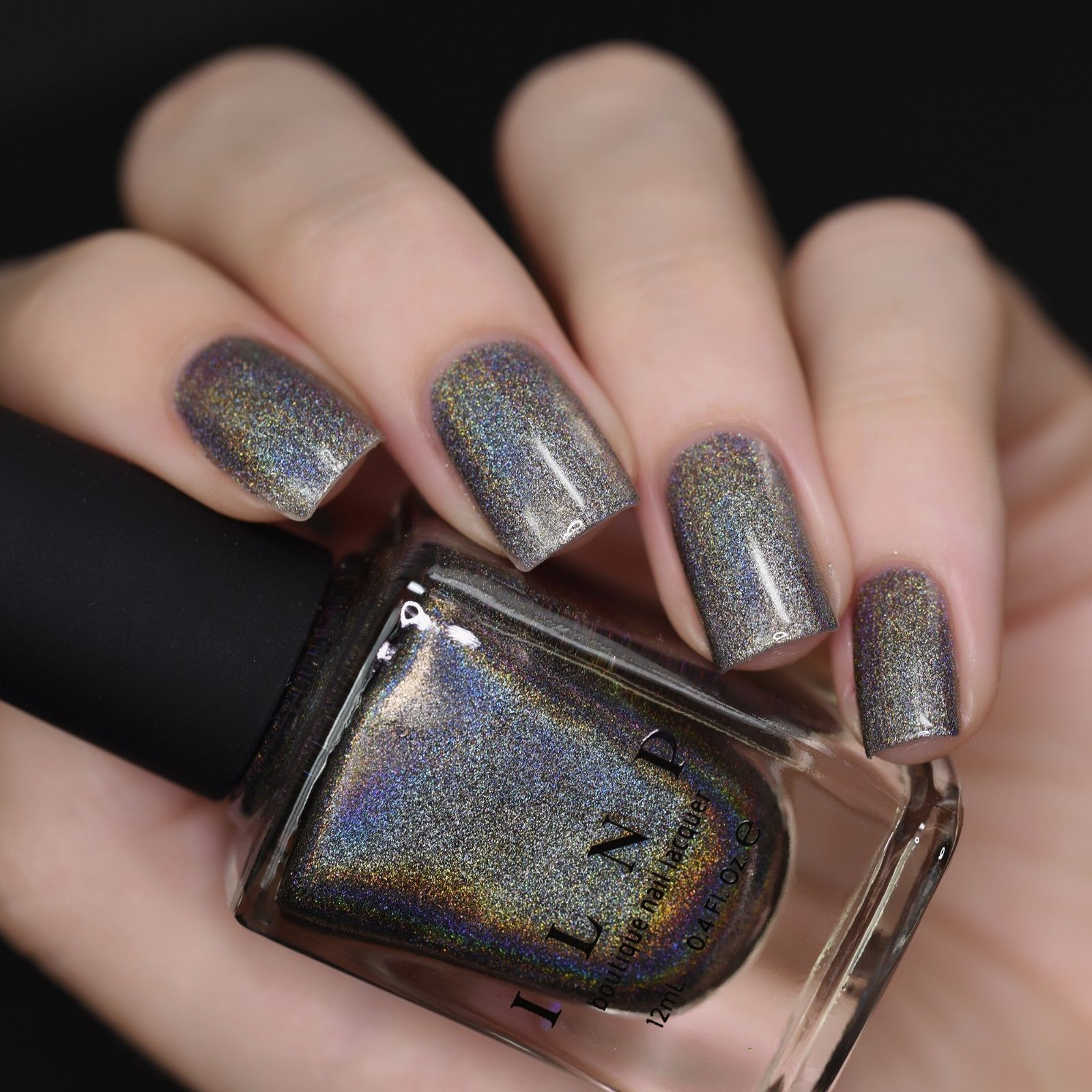 ILNP Sticks And Stones - Gauntlet Grey Ultra Holographic Nail Polish ...