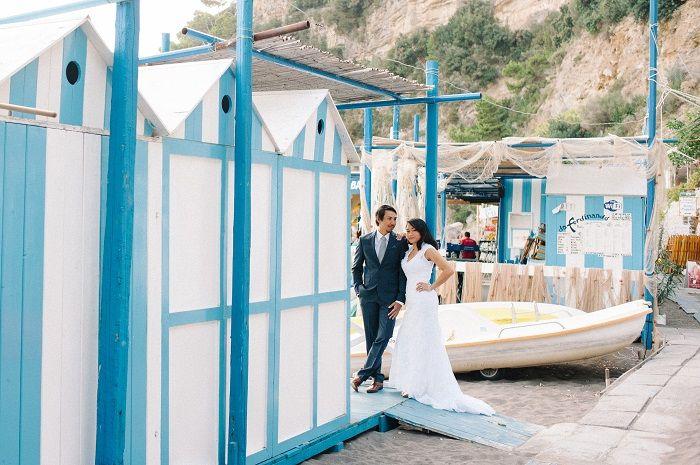 Breathtakingly Romantic + Beautiful Positano Elopement and Her Alfred Angelo Wedding Dress | Fab Mood #fabmood