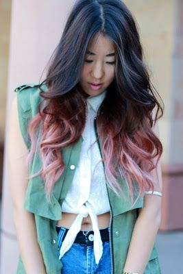 Brown Hair Light Pink Tips Google Search Pink Ombre Hair Ombre Hair Dip Dye Hair