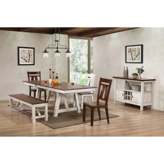 Bernards Winslow Casual Dining Table  Decor  Pinterest Simple Casual Dining Room Tables Design Decoration
