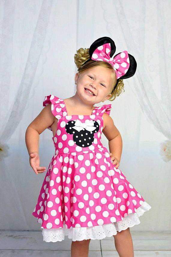 ebdbc2df2 Bebé niñas vestido de Minnie Mouse | collecion magica | Vestidos ...