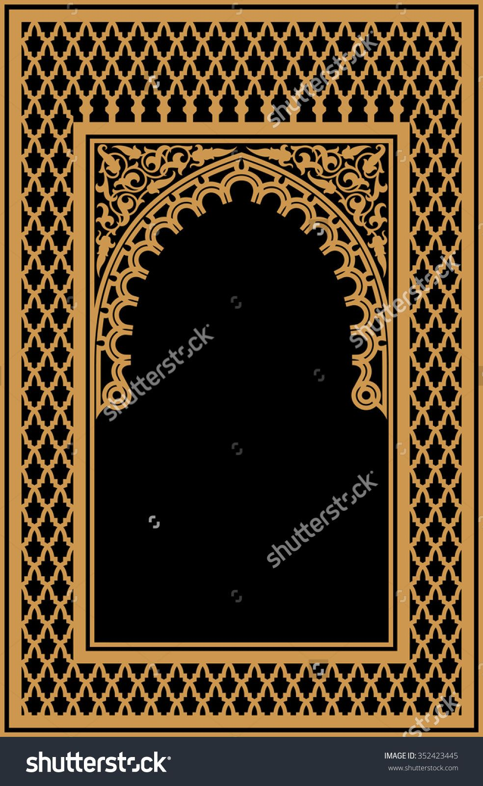 Arabic Floral Arch. Traditional Islamic Background. Mosque