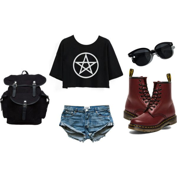 Bez naslova #92 by lejla666 on Polyvore featuring moda, Dr. Martens, Your Turn and Oliver Peoples