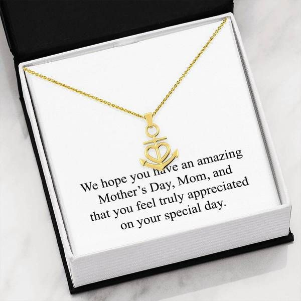 Unique Gifts Store My Mother was Right v2 Forever Love Heart Necklace 18k Yellow Gold Finish
