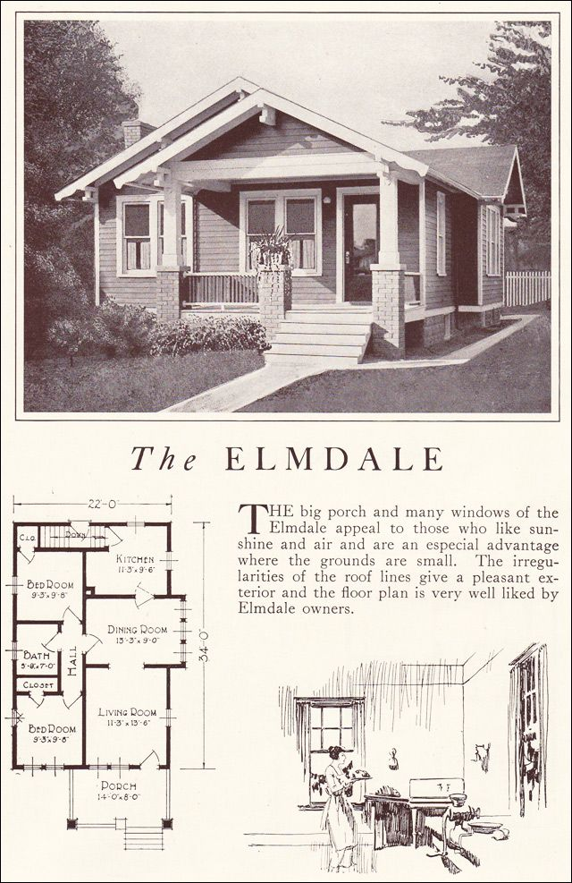 1922 Lewis Homes of Character - The Elmdale | Vintage house plans ...