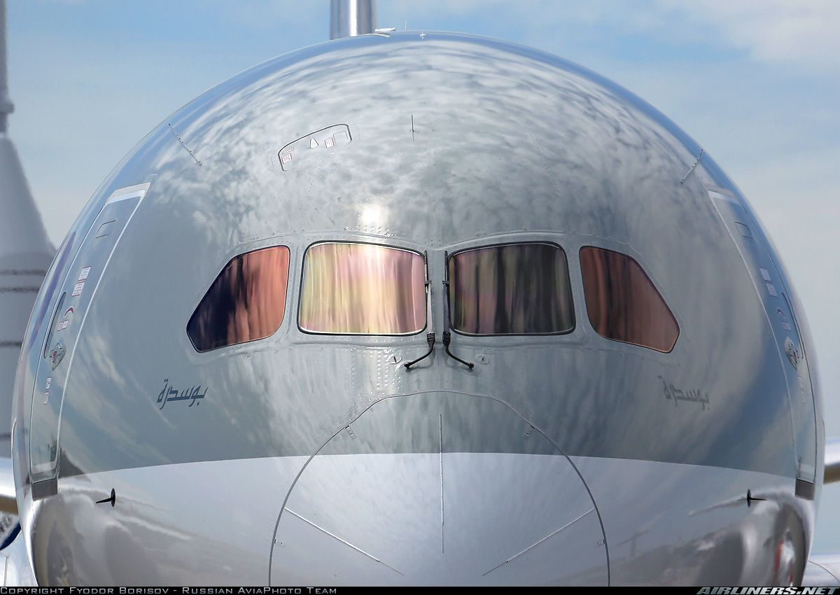 Airliners.net ‏ - Face to face with a Qatar Airways 787 at MAKS 2013. Fyodor Borisov