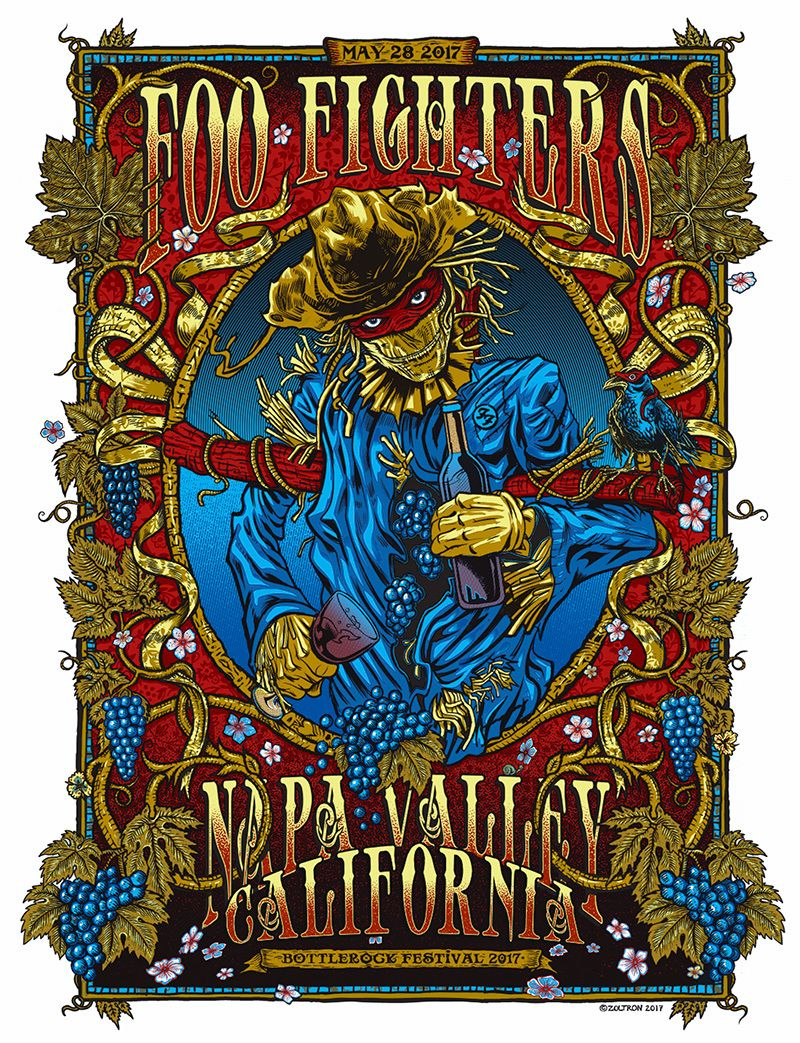 Foo fighters the colour and the shape - Foo Fighters Bottlerock Napa Poster By Zoltron