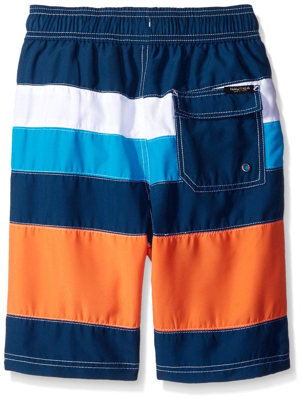 567b0aeeff Amazon.com: Nautica Boys Printed Stripe Swim Trunk: Clothing | Boy ...