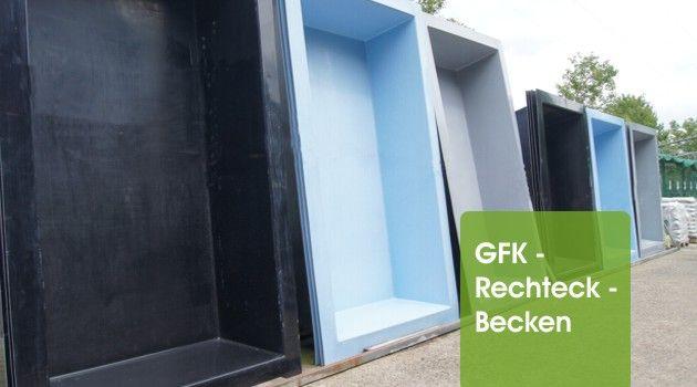 GFK Rechteckbecken garten Pinterest - wasserwand selber bauen garten