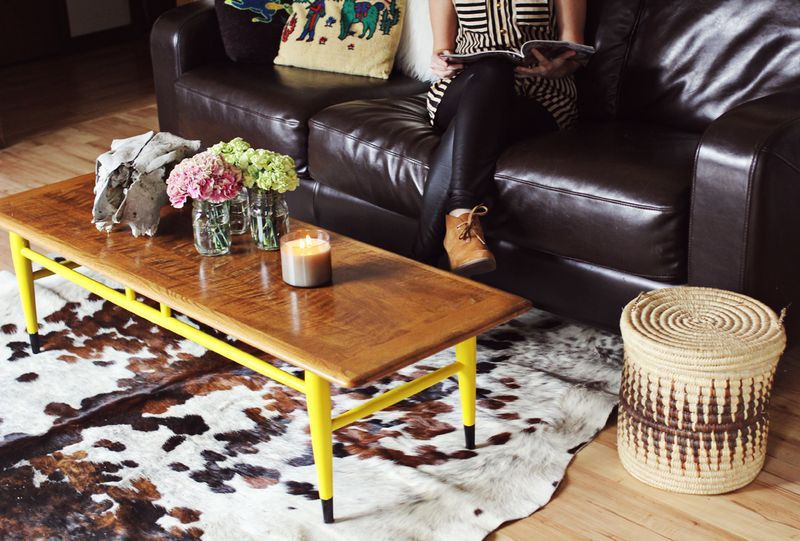 A Little Yellow Paint Goes A Long Way Painted Coffee Tables