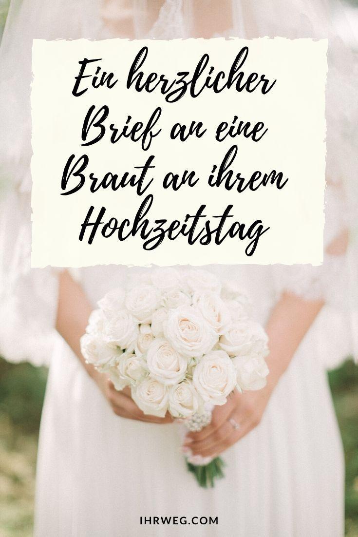 Ein Herzlicher Brief An Eine Braut An Ihrem Hochzeitstag