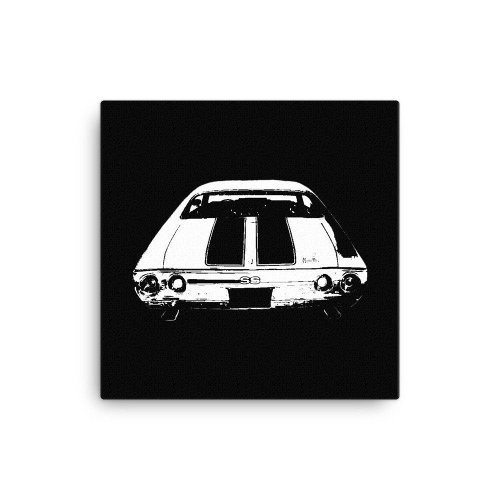1972 Chevelle SS Rear End - Modern Rodder - Canvas Print