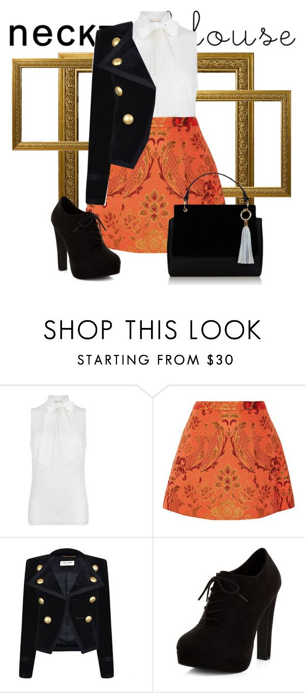 """""""Autumnnus"""" by niccizaye ❤ liked on Polyvore featuring MICHAEL Michael Kors, Alice + Olivia, Yves Saint Laurent and New Look"""