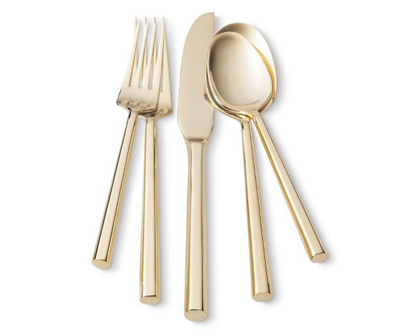 10 Designer Esque Target Pieces For The Home Flatware Set Gold Flatware Gold Silverware