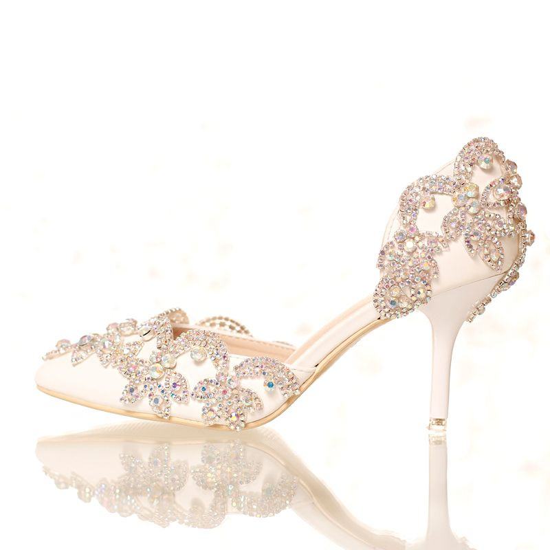 Hot! New Women Bridal shoes pearl Rhinestone Waterproof white crystal High heels Women's shoes Free shipping discount 2014 new prices sale online cheap sale the cheapest online discount 7OIiXNpZP
