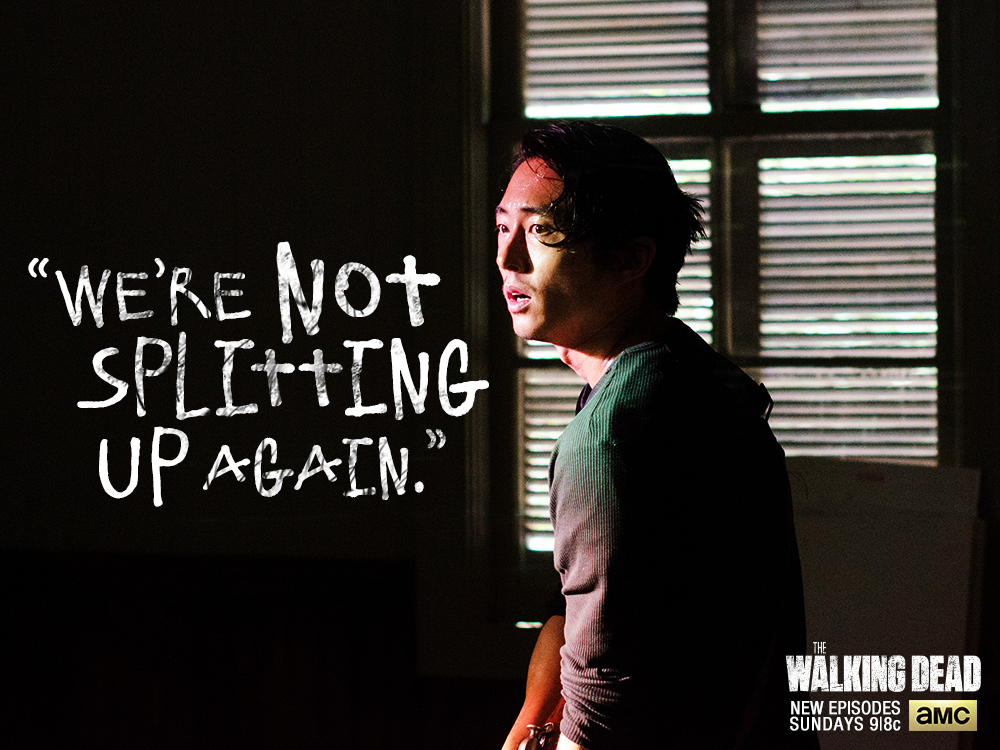 "We're sticking with Glenn;  Season 5  ""Strangers"""