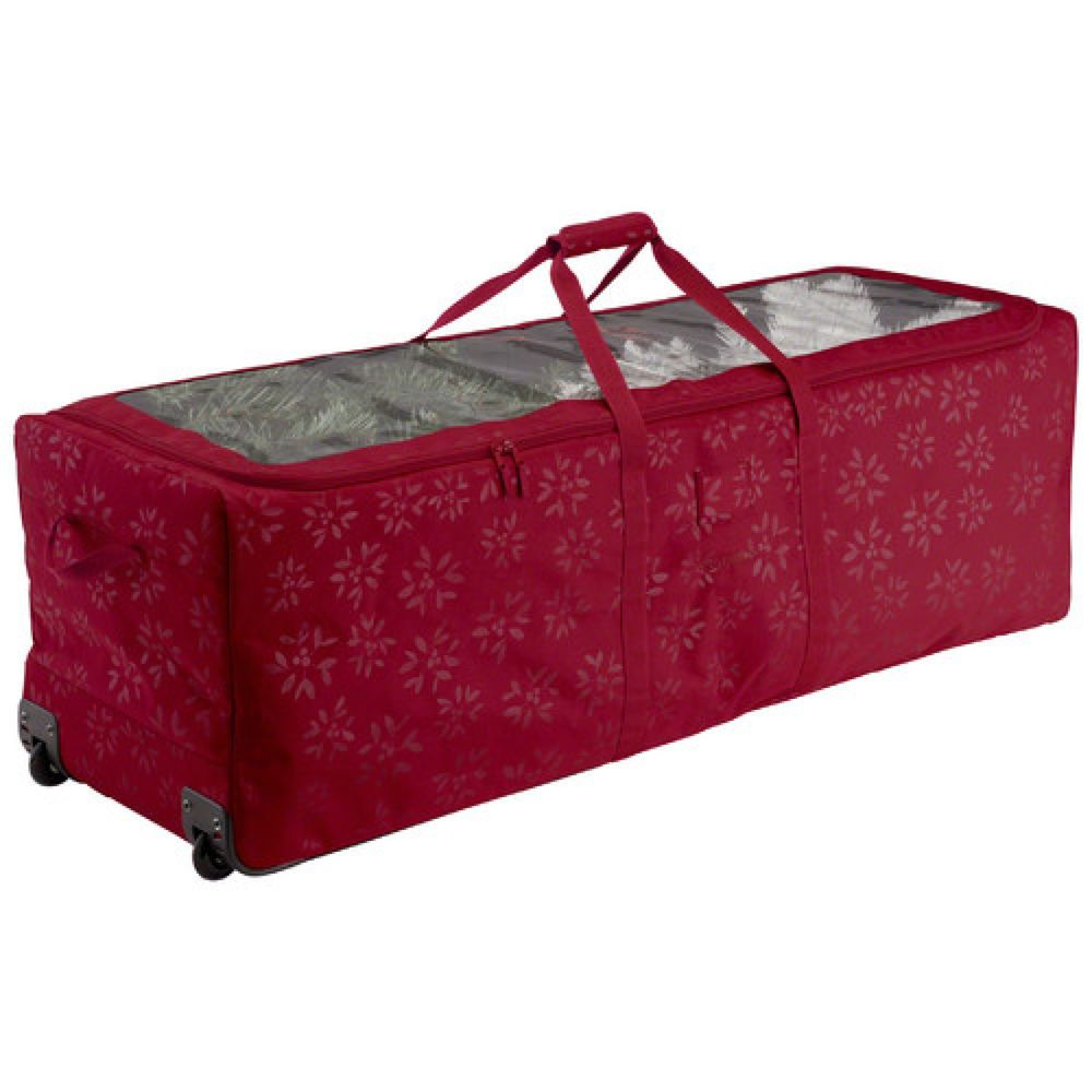 Christmas Tree Storage Bin Christmas Tree Rolling Storage Seasonal Holiday Duffel Bag Organizer