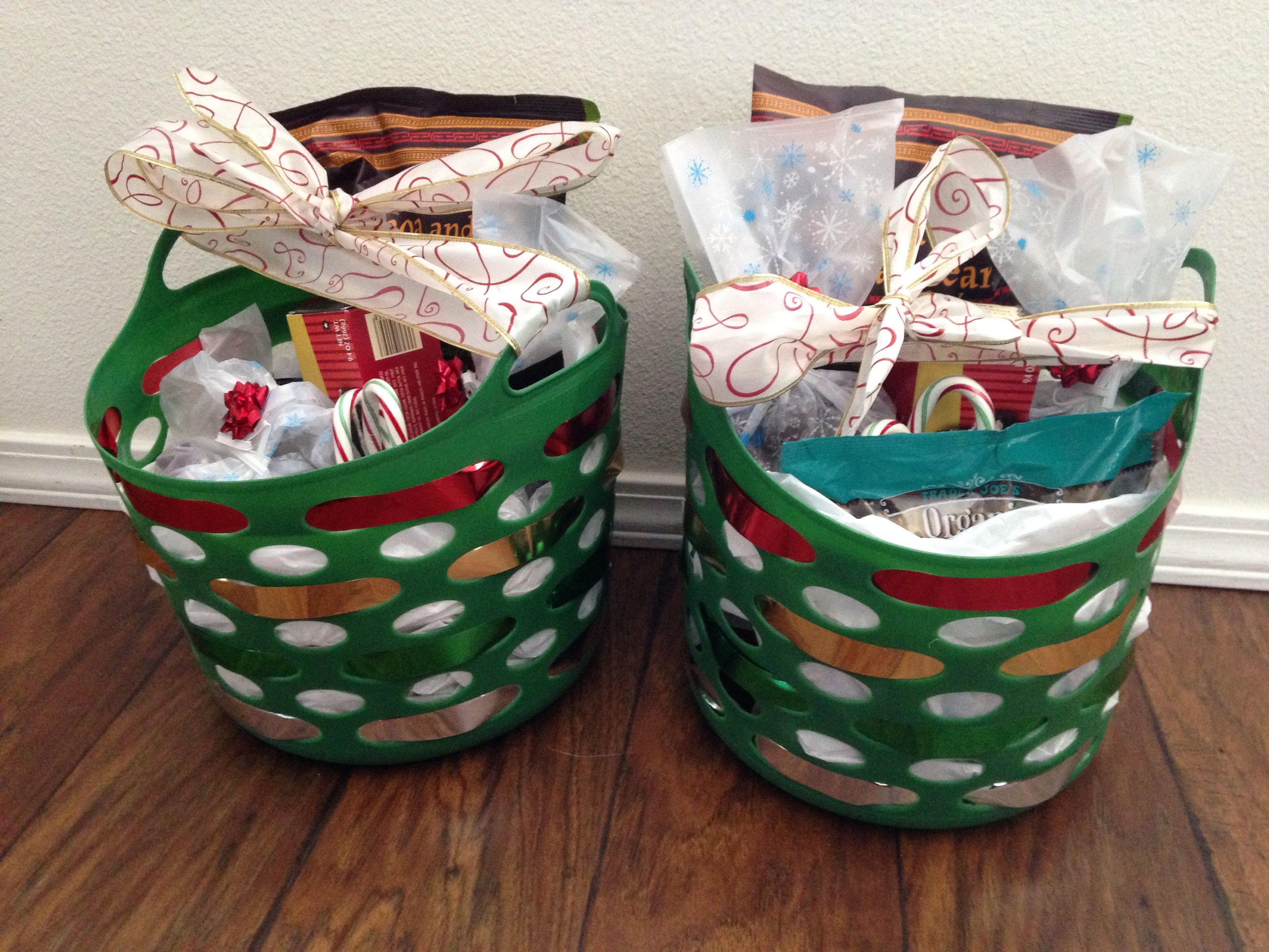 Teacher Christmas gift 2013- dollar store basket filled with goodies ...