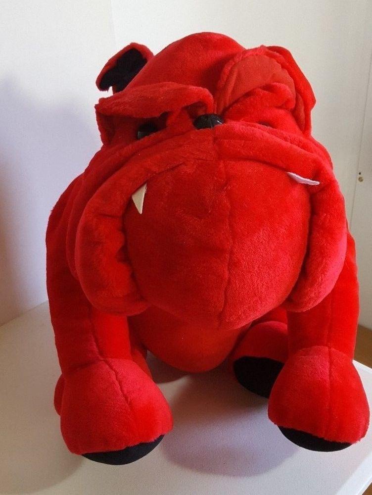 Red Georgia Bulldog Plush 25 Inch Stuffed Animal Toy Giant Large