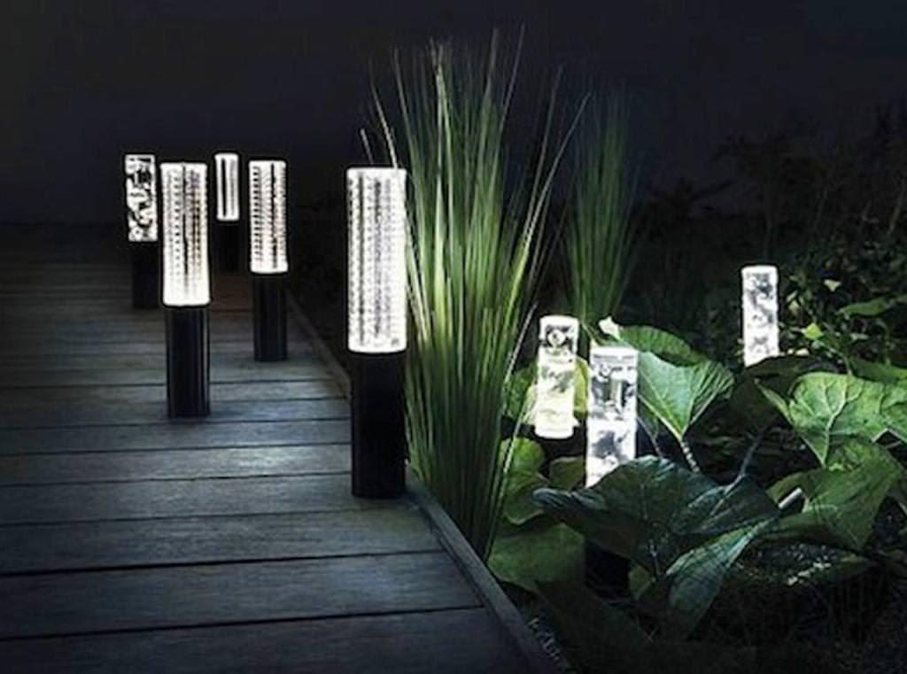 Sterno Home Paradise Solar Led Post Lights 4 Pack Solar Fence
