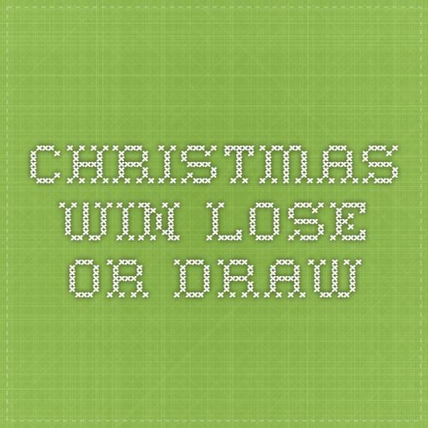 Christmas Win Lose Or Draw Christmas Ideas Christmas Christmas