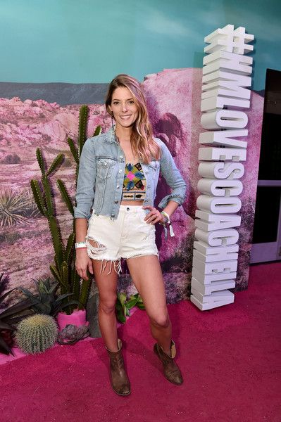 Actress Ashley Greene attends the H&M Loves Coachella Pop UP at The Empire Polo Club on April 15, 2016 in Indio, California.