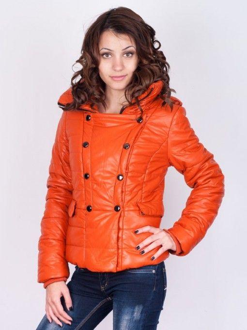 Geaca dama Jump de iarna portocalie