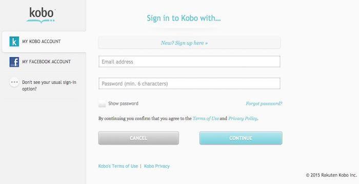 Kobo Login Problems Kobo New Sign