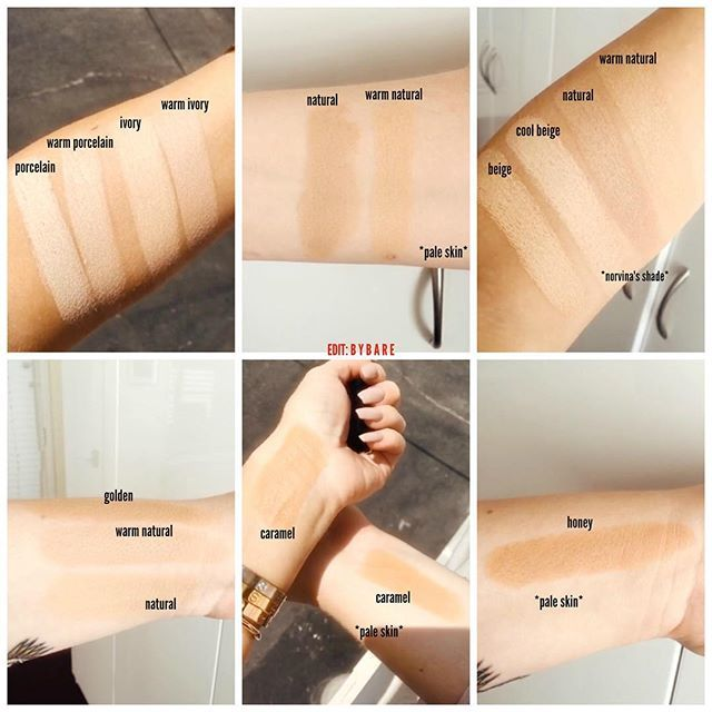 Anastasiabeverlyhills Foundation Stick Swatches On Pale Fair Skin