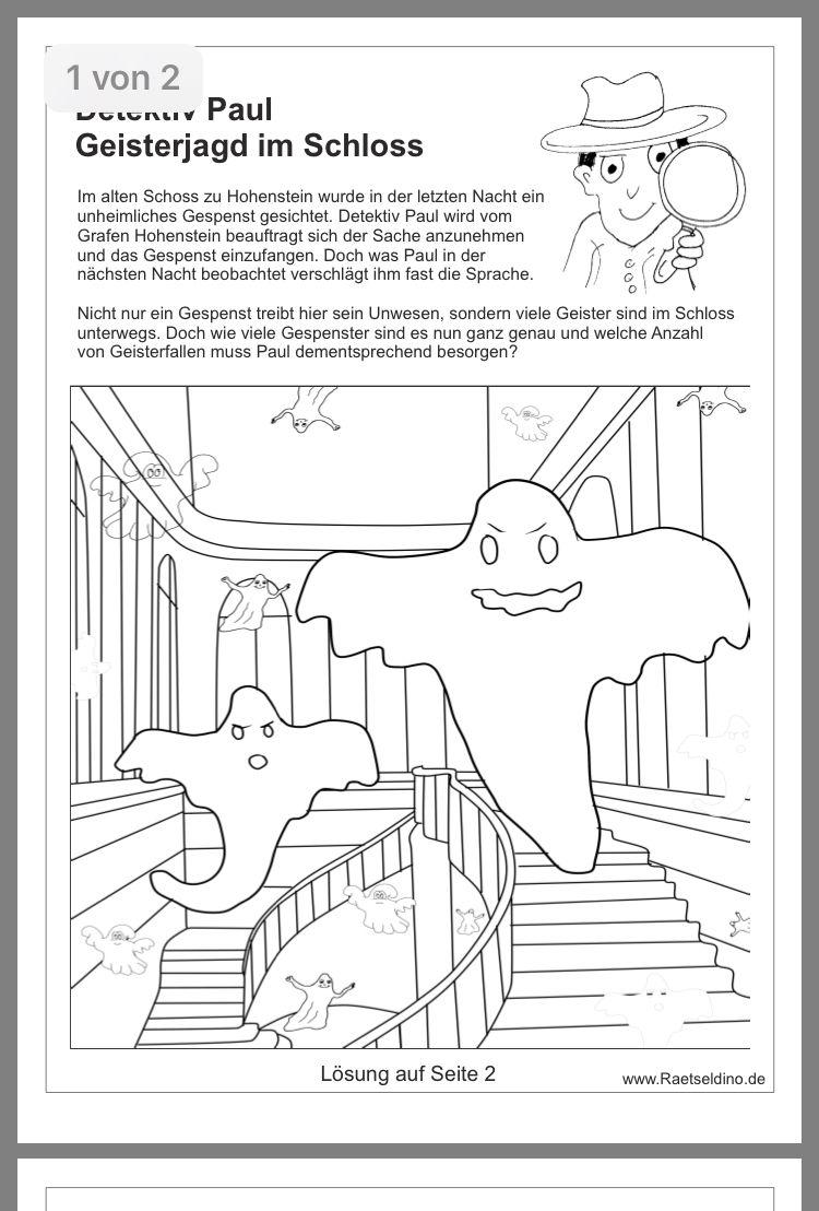 Pin Von Christine Ehrhardt Auf Schule Halloween Geschichte Ratselspiele Fur Kinder Deutsch Lesen
