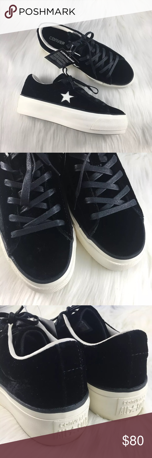 a449be843a0 Women s Converse One Star Velvet Platform OX Women s Converse One Star  Velvet Platform OX Sneakers. Style Color  558950C • Women s size 7 • NEW in  box (no ...