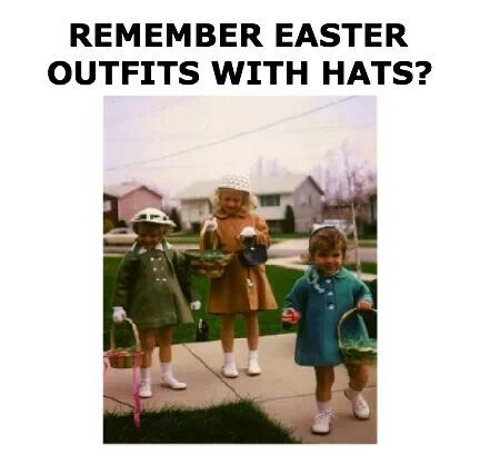 Retro Easter outfits.