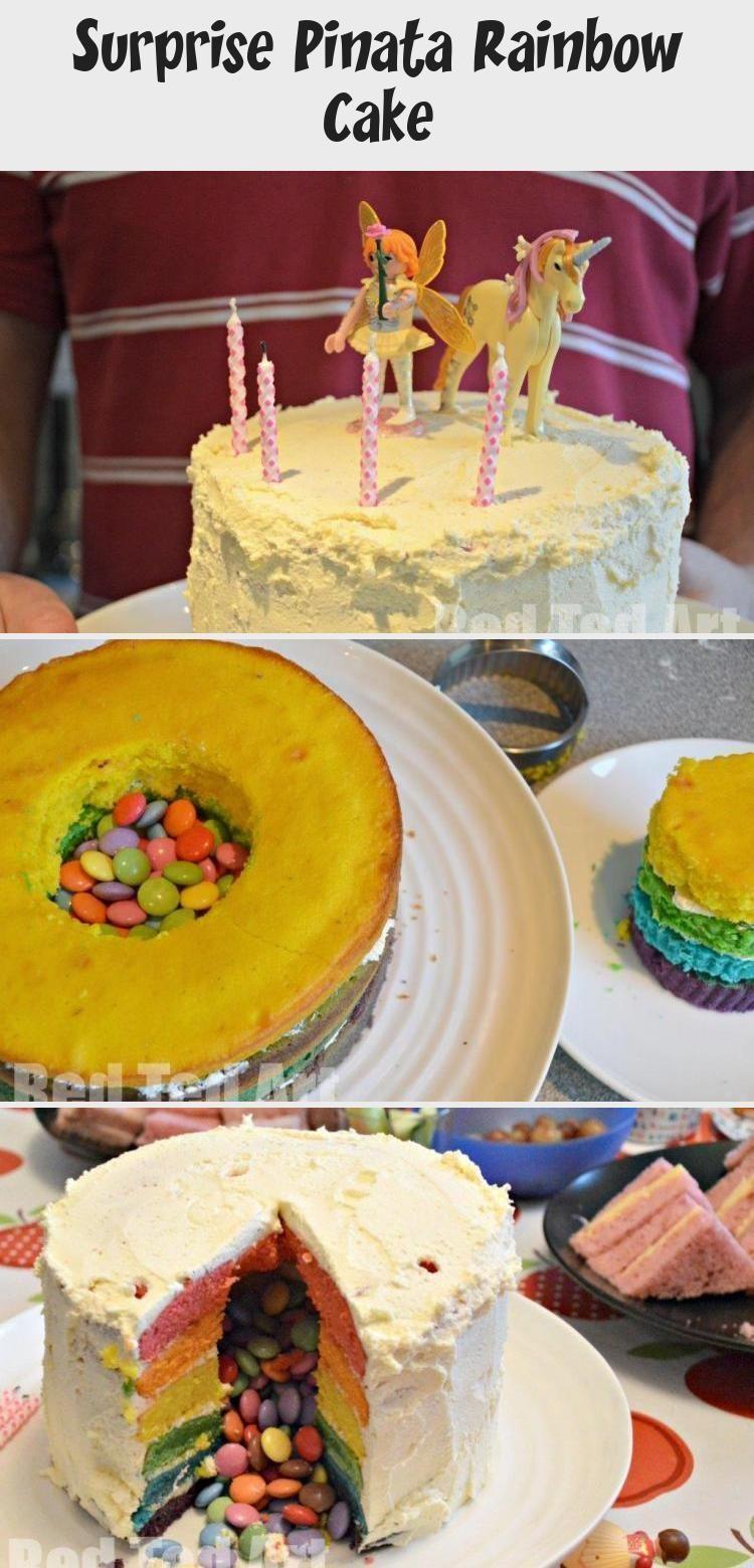 Photo of Pinata Rainbow Cake … nimm zwei tolle Pinterest Cakes und mache dieses fabelha…