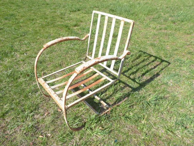 Vintage Bunting Spring Chair Metal Steel Metal Chairs