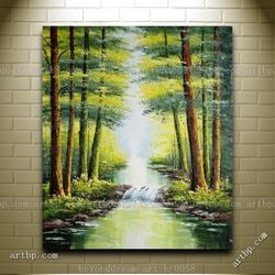 a4b615e0f Online Shop Small Waterfall In Early Autumn Oil Painting Naturalism  Landscape Tree Canvas Trees Roller Blinds Wall Decor Stickers  Mod Aliexpress Mobile