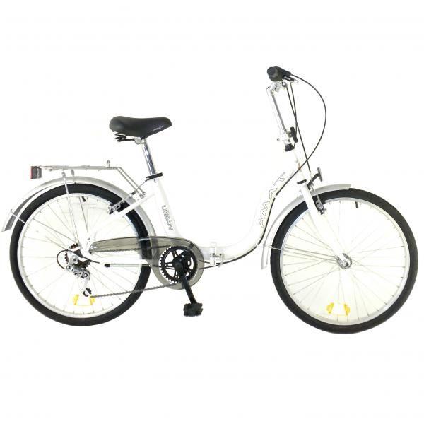 "Bicicleta Plegable Urban 24"" 6v"