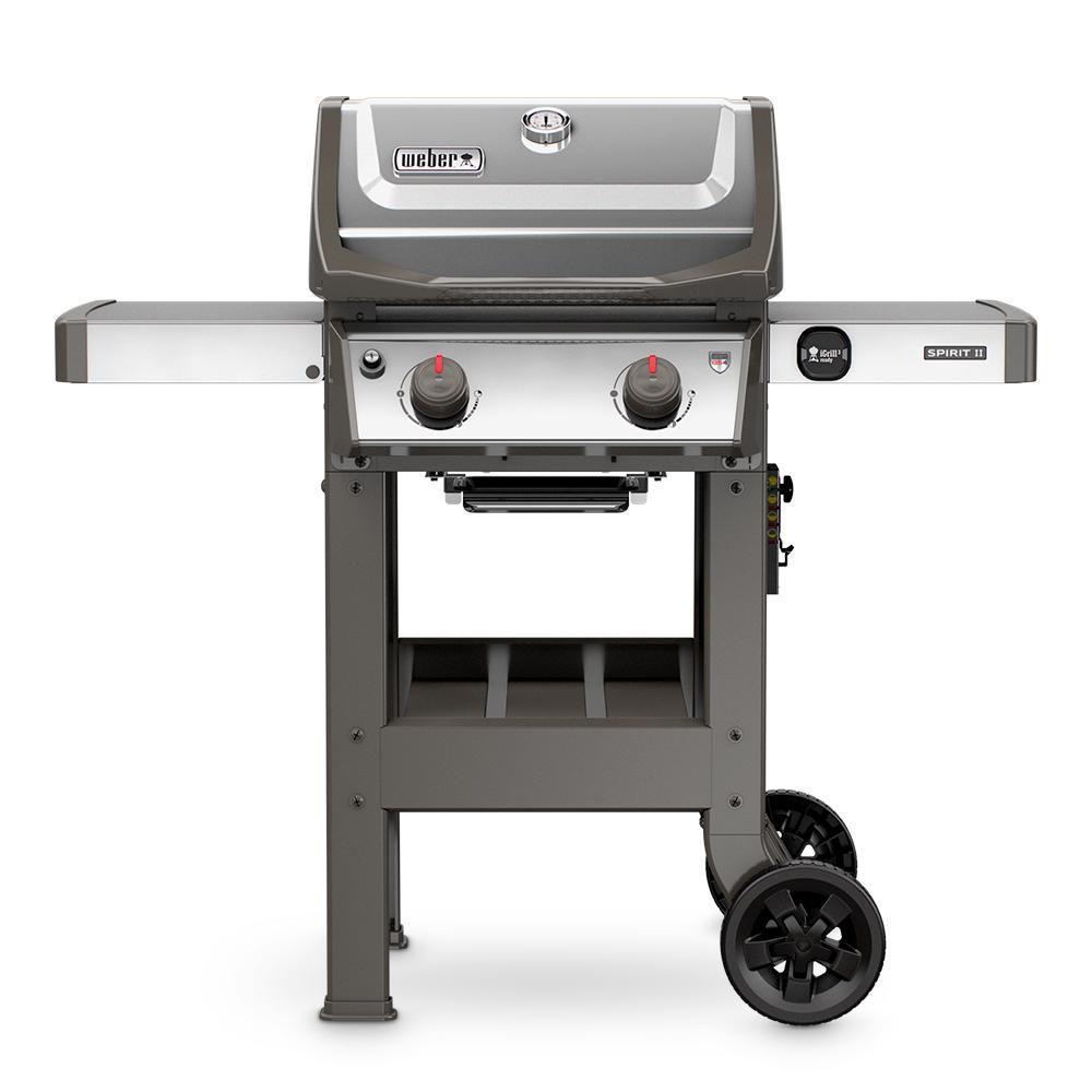 Weber Spirit Ii S 210 2 Burner Propane Gas Grill Stainless Steel 44000001 Gas Grill Natural Gas Grill Propane Gas Grill