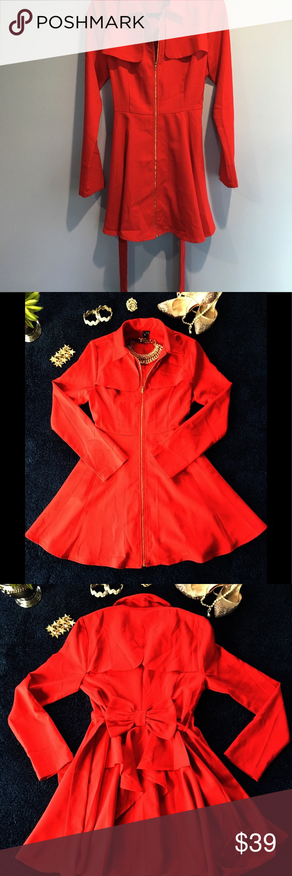 74cdaeee39 WOMEN S WINDSOR ZIP UP TRENCH COAT 💋 This jacket coat by Windsor is ideal  for