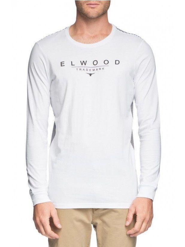 Elwood Trademark Stripe Long Sleeve Tee - White – West Brothers