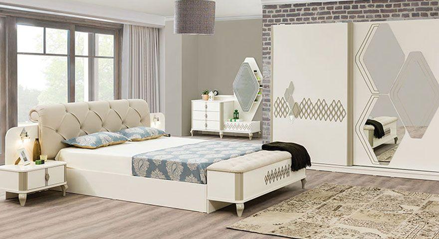 Stella Bazali Yatak Odasi Aya Bed Furniture Master Bedroom