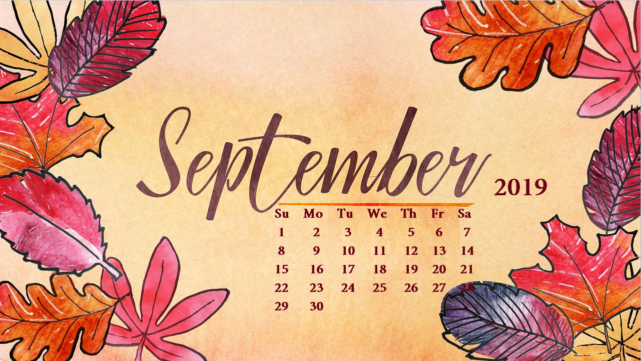 Beautiful September 2019 Wallpaper September calendar