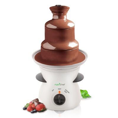 Pure Clean Three Tier Electric Chocolate Fondue Fountain | Wayfair #chocolatefonduerecipes