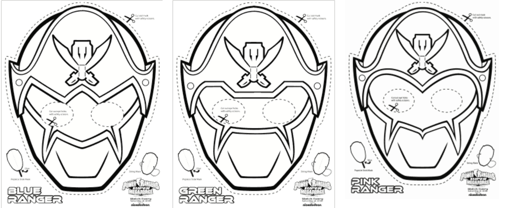 Power Rangers Mask Coloring Pages Complete Guide Example ...