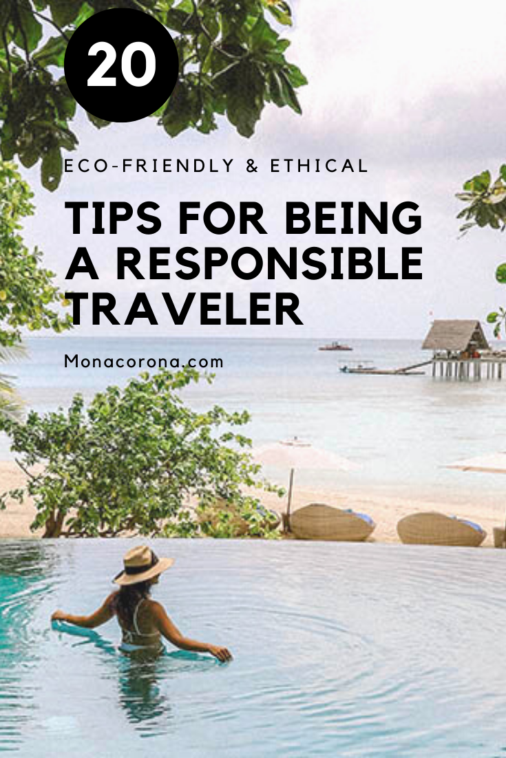 Responsible Tourism Tips for being a more responsible traveler. Ecotourism, sustainability, ethical tourism, & socially responsible travel tips. Travel guide for green travel, ecotourismo, ecolodge, green hotels, local culture, voluntourism, eco-friendly travel, ecofriendly hotel, sustainable hotels, eco resort, carbon offset programs & reducing carbon footprint. Best benefits of responsible travel. Bali, Costa Rica, Tulum, Thailand, Mexico, Indonesia, Vietnam, USA, #ecotourism #travel #tips #ad